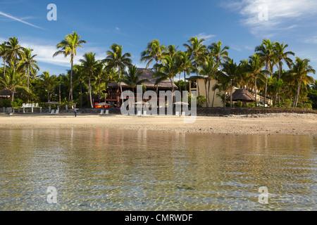 Strand am Ausleger auf der Lagoon Resort, Coral Coast, Viti Levu, Fidschi, Südpazifik - Stockfoto