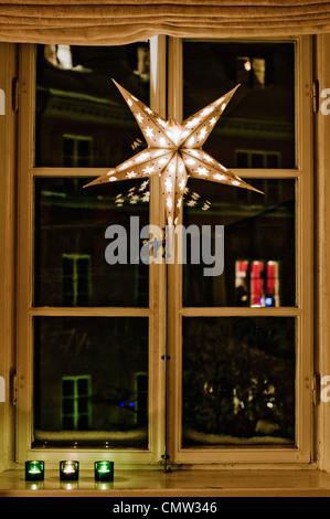 Weihnachten Sterne Laterne - Stockfoto