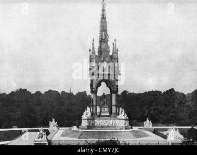 Das Albert Memorial, befindet sich in Kensington Gardens, London, England, um 1890 - Stockfoto