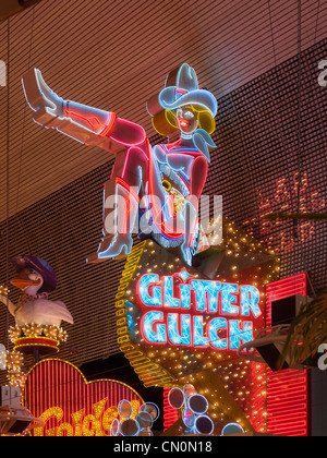 Glitter Gulch, Fremont Street, Las Vegas - Stockfoto