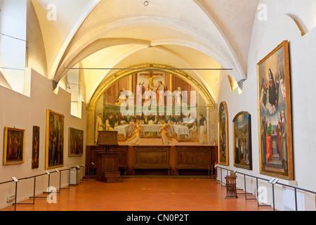 Europa, Italien, Florenz, Museo Nazionale di San Marco, Fresko - Stockfoto