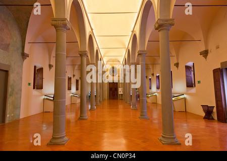 Italien, Florenz, Museo Nazionale di San Marco, The Library - Stockfoto
