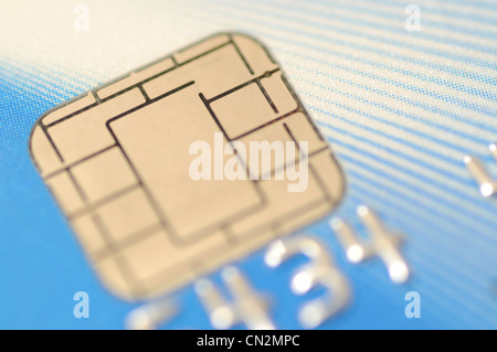 Makro-Business-Chip-Karte - Stockfoto