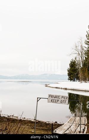 Melden Sie für Privatanleger, Lake Tahoe, Kalifornien, USA - Stockfoto