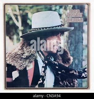 Cover des Albums Vinyl Wunsch von Bob Dylan, veröffentlicht 1975 auf CBS Records - Stockfoto