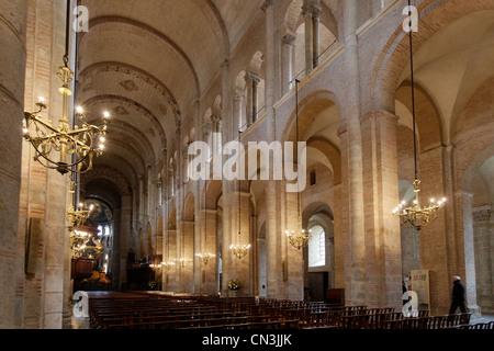 Frankreich, Haute Garonne, Toulouse, stoppen auf Way of St. James, Weltkulturerbe der UNESCO, Basilika Saint-Sernin - Stockfoto
