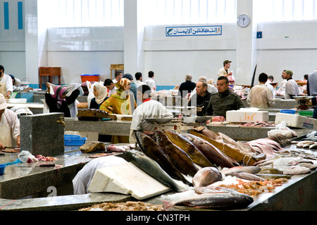 Marokko, Tanger Tetouan Region Tanger, Markt auf dem Grand Socco (der große Souk) Stockfoto
