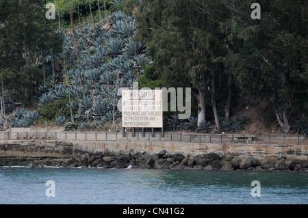 Alcatraz-Insel in der Bucht von San Francisco - Stockfoto