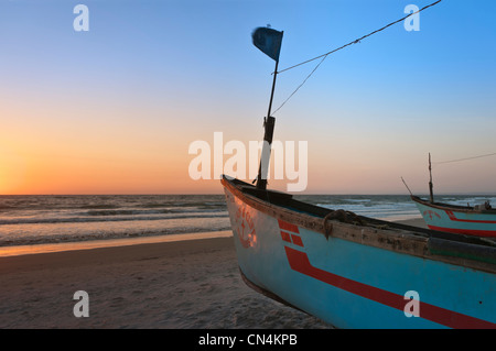 Boote am Colva Beach Goa Indien - Stockfoto