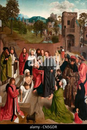 Die Anhebung des Lazarus 1480 von Geertgen Tot Sint Jans oder Gerard de Sint Jean Niederlande Niederlande - Stockfoto