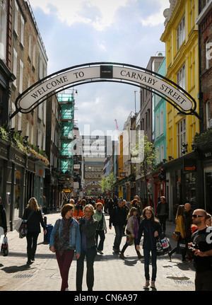 Carnaby Street London UK - Stockfoto