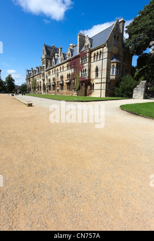 Wiese Gebäude des Christ Church College, Universität Oxford, Großbritannien - Stockfoto
