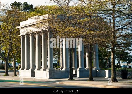 Plymouth Rock Memorial, Plymouth Massachusetts - Stockfoto