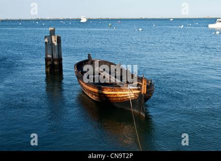 Schiff Mayflower II, verankert im Hafen von Plymouth, Plymouth, Massachusetts, USA ist eine Nachbildung des Originals - Stockfoto