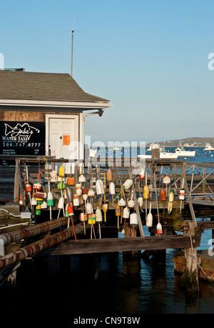 Plymouth, Massachusetts, Hafen und dock - Stockfoto