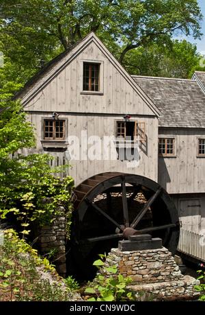Jenney Grist Mill, Plymouth Massachusetts, 17. Jahrhundert Grist mill - Stockfoto