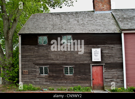 Richard Sparrow House 1636 Plymouth Massachusetts, Außenansicht - Stockfoto