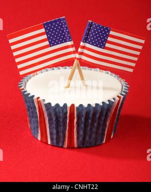 AMERIKANISCHEN FEIER CUPCAKE - Stockfoto