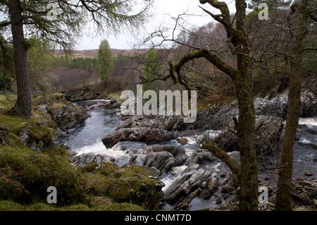 Fluß Cassley, Sutherland, Schottland, UK - Stockfoto