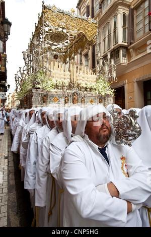Semana Santa (Karwoche) Malaga, Andalusien, Spanien - Stockfoto