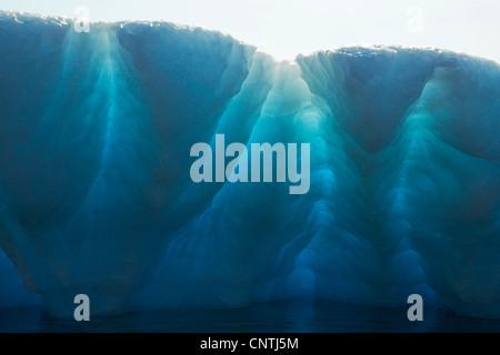 blaue Eisberg, Ammassalik, Ostgrönland, Kulusuk, Grönland - Stockfoto