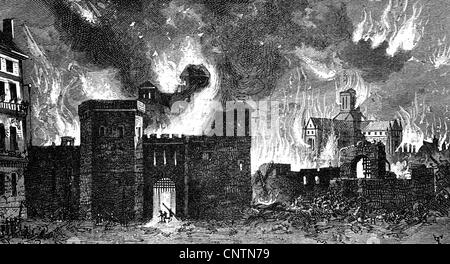 Feuer, Brände, große Feuer von London, 2.-5.9.1666, Additional-Rights - Clearences-NA - Stockfoto