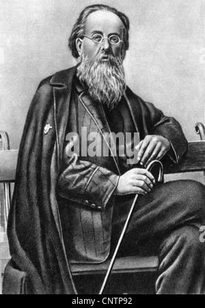 Tsiolkovskii, Konstantin Eduardovich, 17.9.1857 - 19.9.1935, russischer Physiker, Mathematikhistoriker, halbe Länge, - Stockfoto