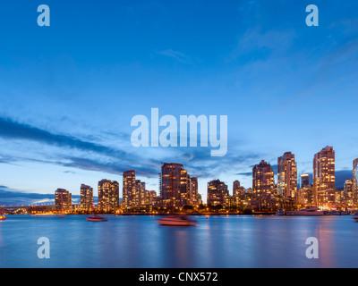 Yaletown false Creek Skyline, Vancouver - Stockfoto