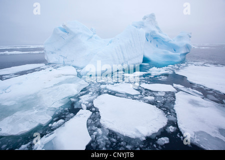 Treibeis, Norwegen, Spitzbergen, Hinlopen Strait - Stockfoto