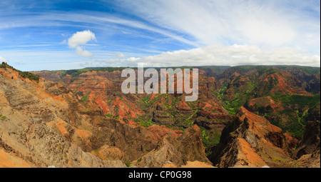 Ausblick über den Waimea Canyon. Kauai, Hawaii - Stockfoto