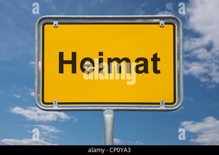 Stadt unterzeichnen Deutschland, Anfang der Stadt mit der deutschen Aufschrift home - Stockfoto