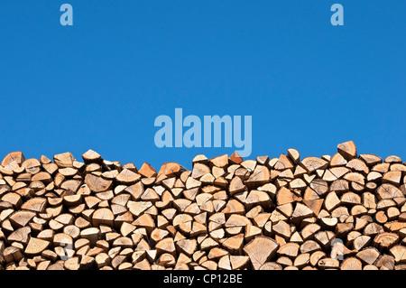 Holzstapel Stockfoto