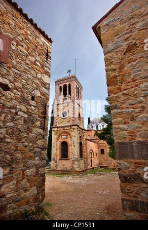 """Nea Moni (, leuchtet. """"Neue Kloster"""") ist ein 11. Jahrhundert auf der Insel Chios, Nordost Ägäis, Griechenland. - Stockfoto"""