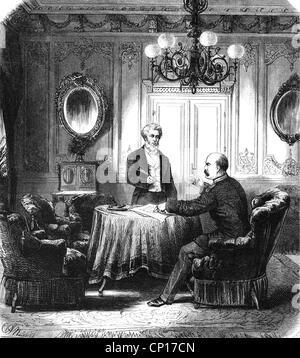 Veranstaltungen, Preußisch-Französischen Krieg 1870 - 1871, Politik, Vertrag von Frankfurt, 10.5.1871, Abstimmung - Stockfoto