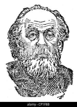 Tsiolkovskii, Konstantin Eduardowitsch, 17.9.1857 - 19.9.1935, russischer Physiker, Mathematiker, Pionier der astronautischen - Stockfoto