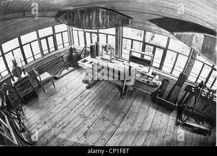 Tsiolkovskii, Konstantin Eduardowitsch, 17.9.1857 - 19.9.1935, russischer Physiker, Mathematiker, seine Werkstatt, - Stockfoto