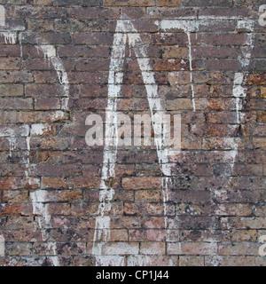 Graffiti auf Mauer, Venedig, Italien. - Stockfoto