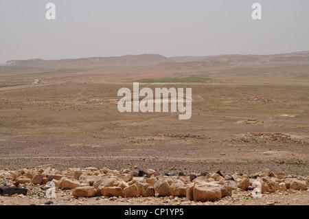 Fußboden Jordan ~ Jordanischen wüste burg von qasr al hallabat unter ausgrabung