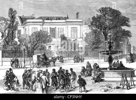 Veranstaltungen, preußisch-französischen Krieg 1870-1871, Besetzung von Paris, Haus der Adolphe Thiers vor seiner - Stockfoto