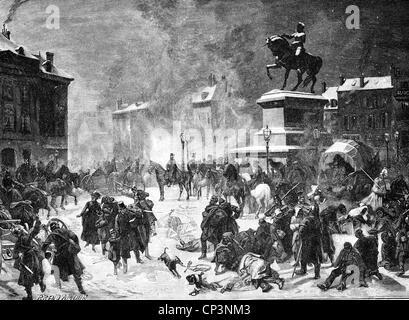 Veranstaltungen, preußisch-französischen Krieg 1870-1871, zweiter Erfassung von Orleans, 4.12.1870, holzstich von - Stockfoto