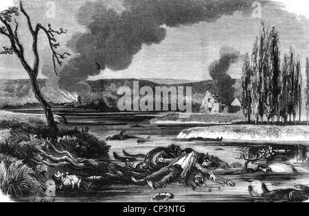 Veranstaltungen, preußisch-französischen Krieg 1870-1871, Schlacht von Sedan, 1.9.1870, die Leichen der gefallenen - Stockfoto