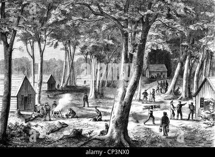Veranstaltungen, preußisch-französischen Krieg 1870-1871, naval Warfare, Küsten-, Lager der Deutschen Marine coast - Stockfoto