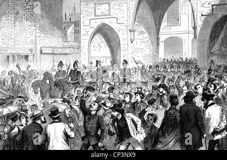 Veranstaltungen, preußisch-französischen Krieg 1870-1871, Sieg feiern, Gasoline Brothers in aufgenommene französische - Stockfoto