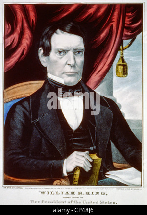 William R. King als Kandidat für den Vizepräsidenten der Vereinigten Staaten 1852 - Stockfoto