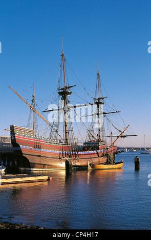 Vereinigte Staaten von Amerika - Massachusetts - Plymouth. Mayflower II. - Stockfoto