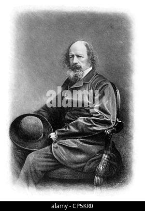 Alfred Tennyson, 1. Baron Tennyson, 1809-1892, ein britischer Dichter des viktorianischen Zeitalters - Stockfoto