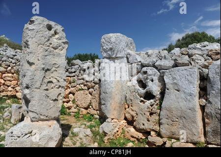 Talyots am Torre d ' en Galmes, Menorca, Spanien - Stockfoto