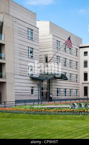 Amerikanische Botschaft am Pariser Platz, Berlin, Deutschland - Stockfoto