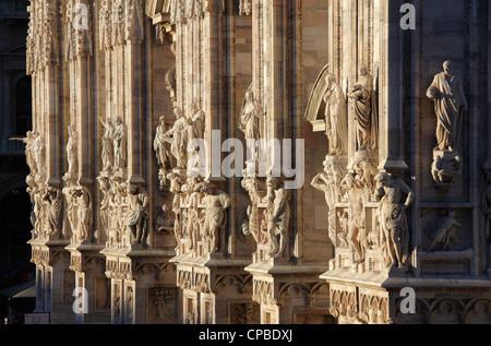 Detail der Kathedrale (Duomo), Mailand, Italien - Stockfoto