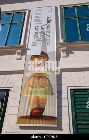 Museum der gebrochen Beziehungen außen Grad die alte Stadt Zagreb Kroatien Europa - Stockfoto